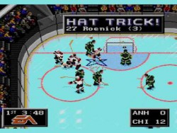 NHL on Sega Genesis cheat moves