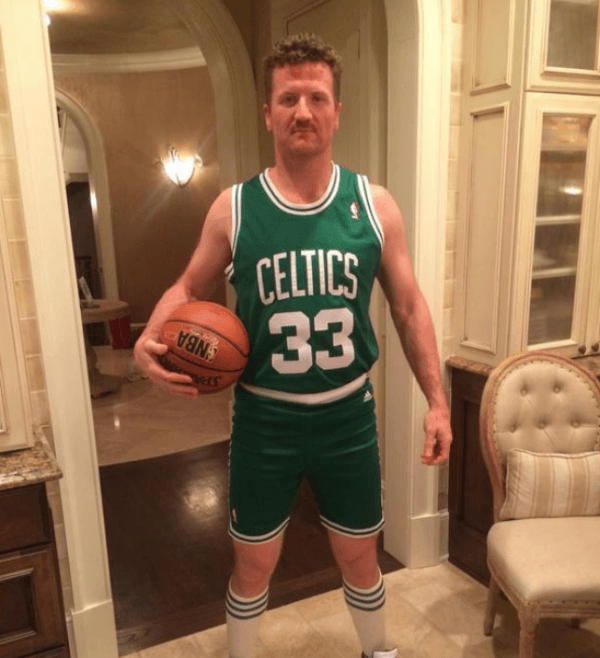 Scott Hartnell Dressed As Larry Bird
