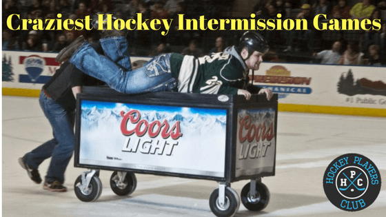 We've searched and found the craziest hockey intermission games