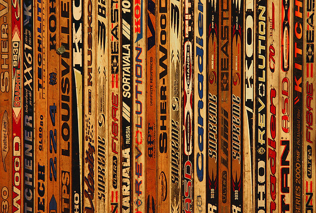 Wooden hockey sticks used to be what everyone used but not since carbon fiber hockey sticks were introduced in the early 2000s