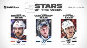 Draisaitl, Vasilevskiy, and Toffoli named NHL 3 Stars Hockey Players Club Podcast Season 2 Episode 16 HPC Blog