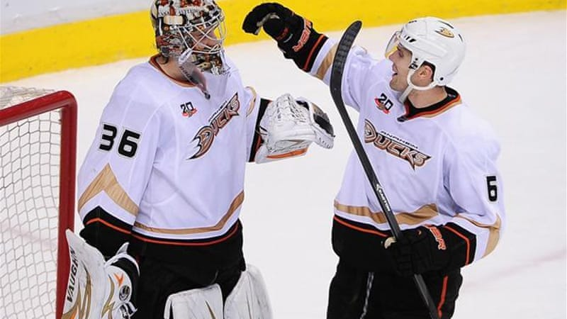 Today in Hockey History- Rookie Netminder John Gibson Earns a Shutout in his NHL Playoff Debut | Hockey Players Club Blog