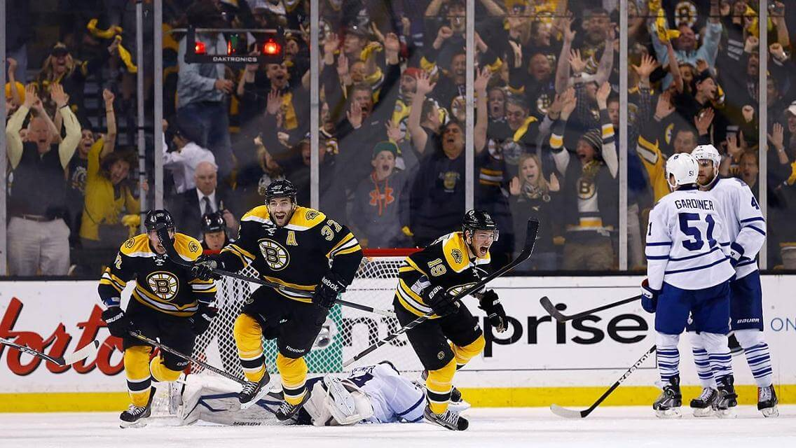 Today in Hockey History- The Bruins Epic Game 7 Comeback Over the Maple Leafs | Hockey Players Club Blog