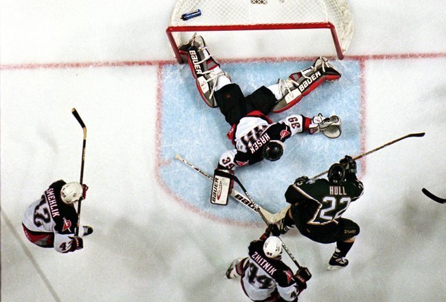 Today in Hockey History- Brett Hull Scores Controversial 3OT Stanley Cup Winning Goal | Hockey Players Club Blog