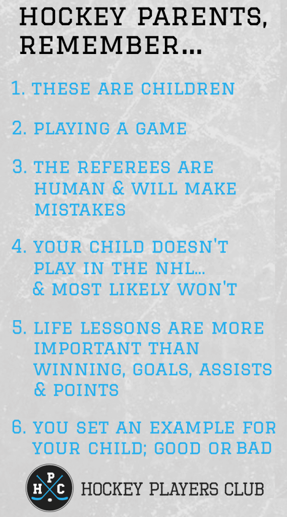 Youth Hockey Parents, Remember...