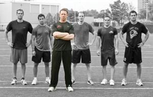 Left to right: Daniel Winnik (TO Maple Leafs, C), Andrew Cogliano (ANA Ducks, C), Matt Nichol (BioSteel Founder), Matt Stajan (CGY Flames, Center), Mike Cammalleri (NJ Devils, LW), Jason Wilson (NY Rangers draft pick, LW). Photo by Arsenik Photography