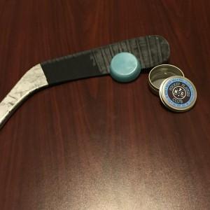 Hockey players club wax tape job