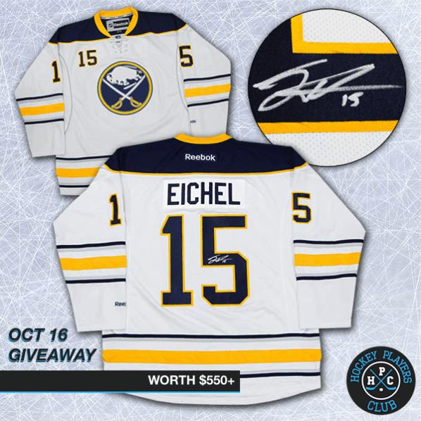 Jack Eichel Autographed Jersey Giveaway