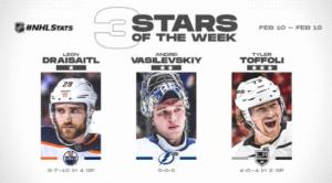 Draisaitl, Vasilevskiy, and Toffoli named NHL 3 Stars Hockey Players Club Podcast Season 2 Episode 16 HPC Blog