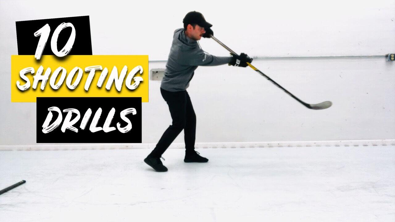 10 Shooting Drills to Improve Your Shot At Home #HockeyAtHome