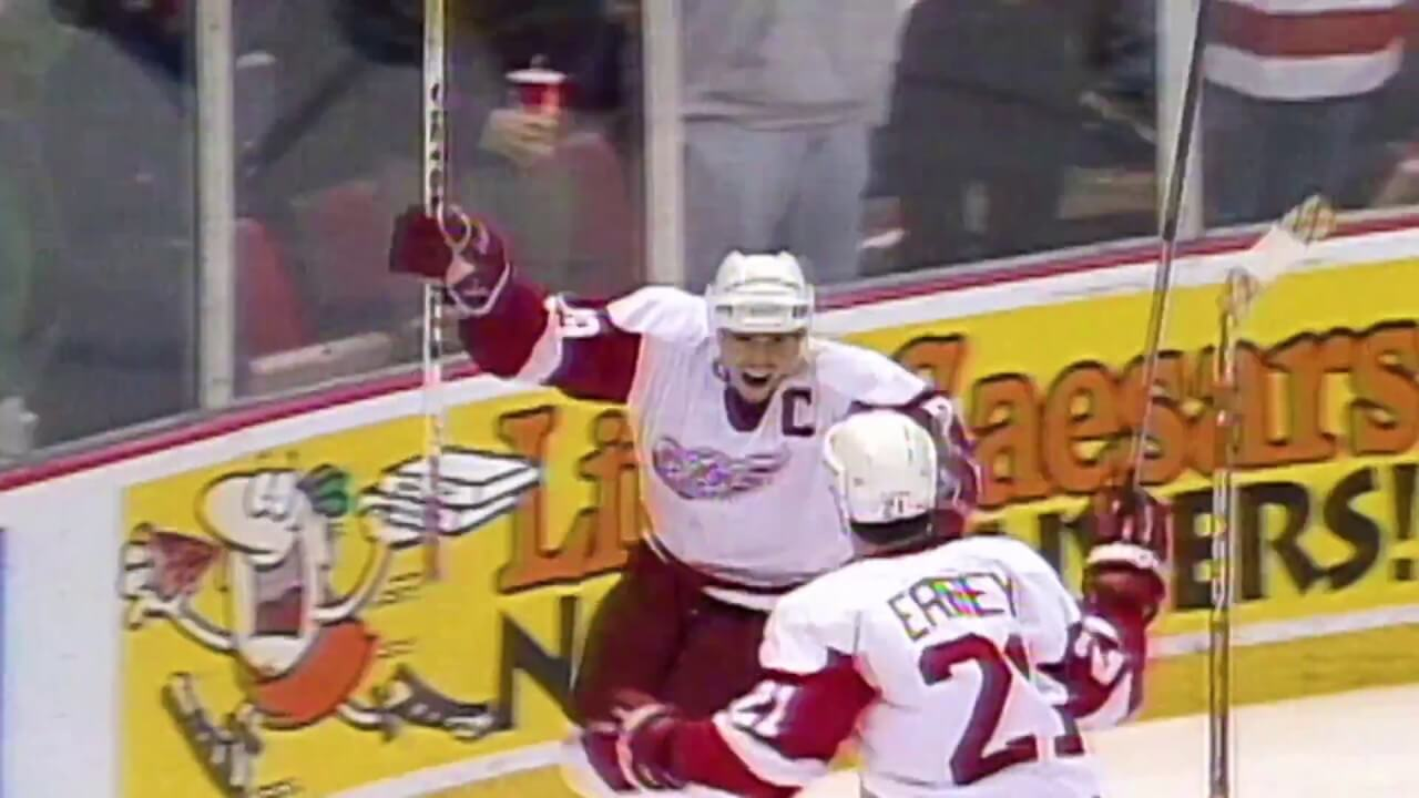 Today in Hockey History- Steve Yzerman's Iconic Game 7 Double Overtime Bardown Snipe | Hockey Players Club Blog