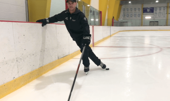 Toe Extension with Puck | Tips and Drills to Master Forward Crossovers | Hockey Players Club