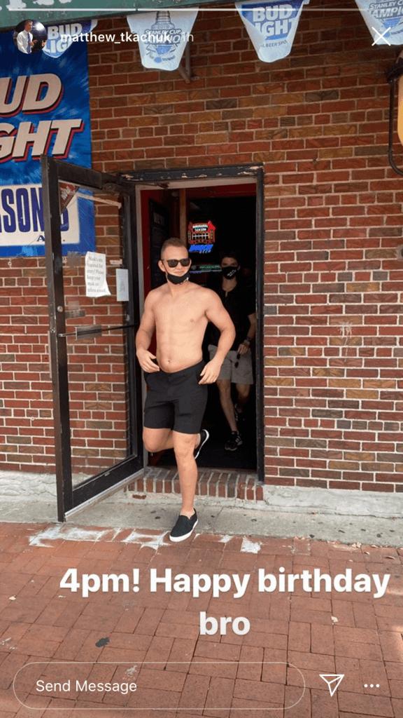 Brady Tkachuk goes shirtless by 4 PM celebrating his 21st birthday | Hockey Players Club Podcast Episode 58 | Hockey Players Club Blog