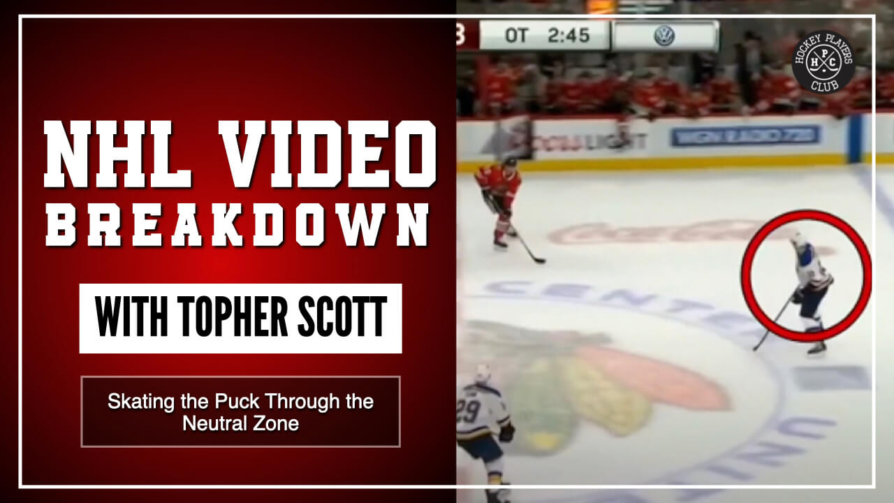 Skating the Puck Through the Neutral Zone | NHL Video Breakdown with Topher Scott