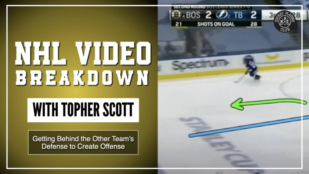 Getting Behind the Other Team's Defense to Create Offense | NHL Video Breakdown by Topher Scott