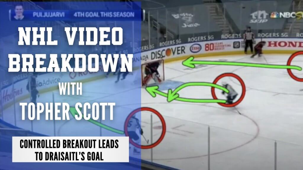 Edmonton Oilers Controlled Breakout Leads to Draisaitl's Goal   NHL Video Breakdown by Topher Scott   Hockey Players Club blog