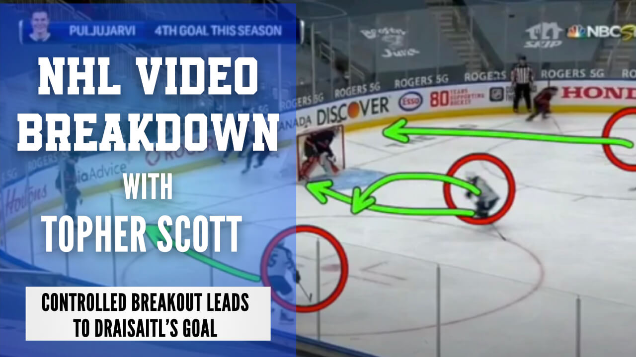 Edmonton Oilers Controlled Breakout Leads to Draisaitl's Goal | NHL Video Breakdown by Topher Scott | Hockey Players Club blog